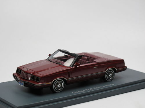 Neo Scale Models 1984 Dodge 600 Convertible rot 1/43