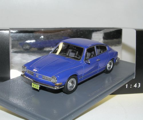 Neo Scale Models, 1970 VW Karmann Ghia TC, Brasilien, blau, 1/43