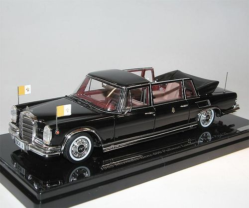 TSM Model 1965 Mercedes-Benz 600 Pullman Landaulet Papst Paul VI., 1/43