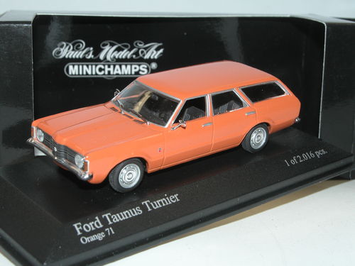 Minichamps 1970 Ford Taunus TC '71 Turnier orange 1/43