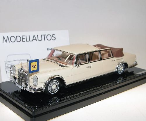TSM Model 1969 Mercedes-Benz 600 Pullman Landaulet, King Rama IX, of Thailand 1/43