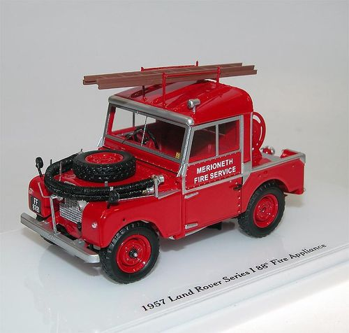 "TSM Model 1957 Land Rover Serie I 88"" Fire Service 1/43"