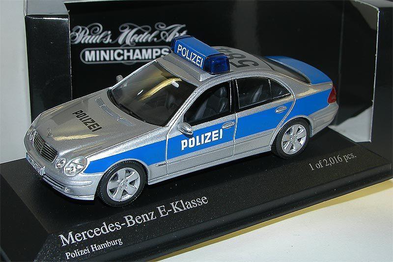 Minichamps 2002 mercedes benz e klasse limousine polizei for Benz hamburg