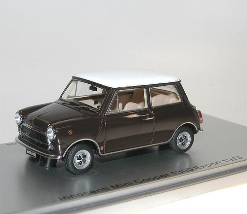 Kess Scale Models, 1973 Innocenti Mini Cooper 1300 Export, braun, 1/43
