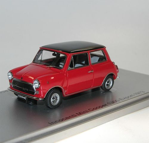 Kess Scale Models, 1973 Innocenti Mini Cooper 1300 Export, rot, 1/43