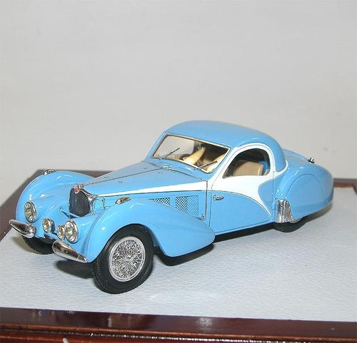 Chromes-Ilario, 1937 Bugatti 57SC Atalante Coupe, light blue, 1/43