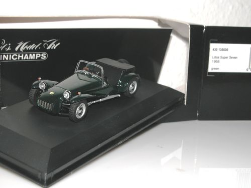 Minichamps, 1968 Lotus Super 7 (Seven), green, 1/43