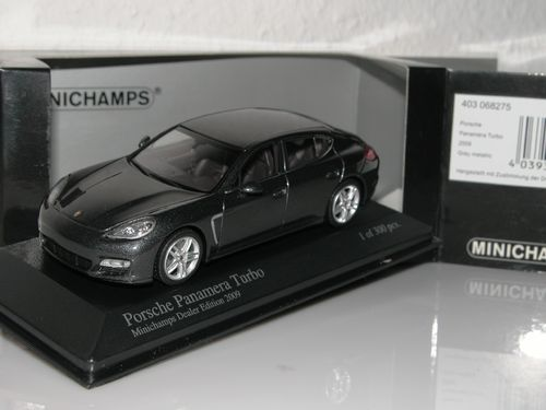 Minichamps, 2009 Porsche Panamera Turbo, Dealer Edition, 1/43