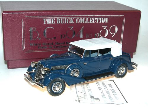 Brooklin Models, 1934 Buick Phaeton Model-98C, Empire Blue, 1/43