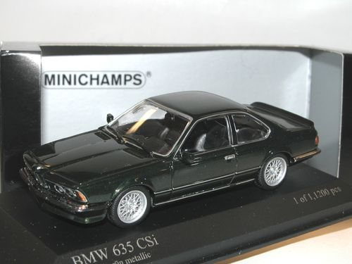 Minichamps 1982 BMW 635 CSi (E24) grün metallic 1/43