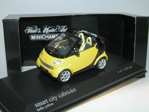 Minichamps 2001 Smart Fortwo City Cabriolet HELLO YELLOW 1/43
