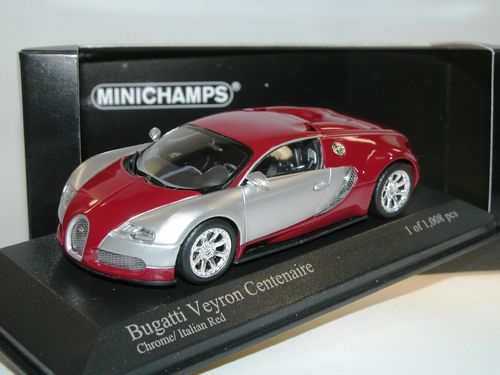 Minichamps 2009 Bugatti Veyron Centennaire chrome/red 1/43