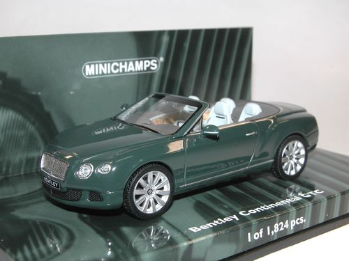 Minichamps 2011 Bentley Continental GTC grün 1/43