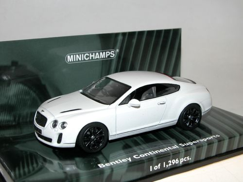 Minichamps 2009 Bentley Continental Supersports white 1/43