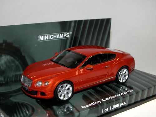 Minichamps 2011 Bentley Continental GT orange metallic 1/43