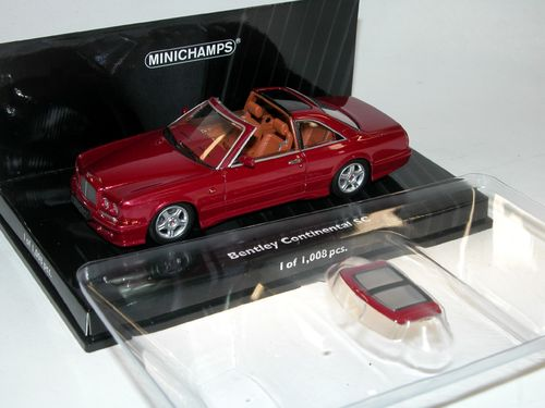 Minichamps 1996 Bentley Continental SC red metallic 1/43