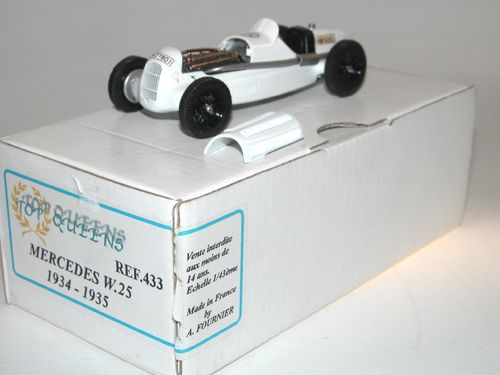Top Queens Mercedes W25 Baujahr 1935-1935 weiß, 1:43