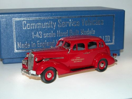 Brooklin Models, 1936 Buick Special BALTIMORE FIRE CHIEF, 1/43