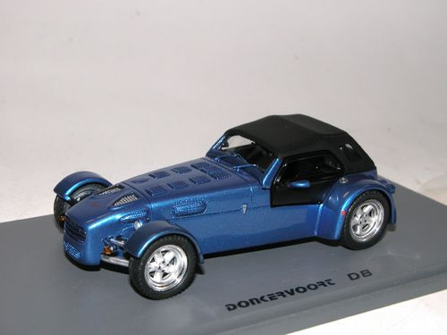 Spark/Replicars 2003 Donkervoort D8 closed blue metallic, 1/43