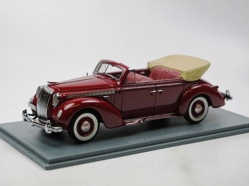 Neo Scale Models 1938 Opel Admiral Cabriolet dunkelrot 1/43