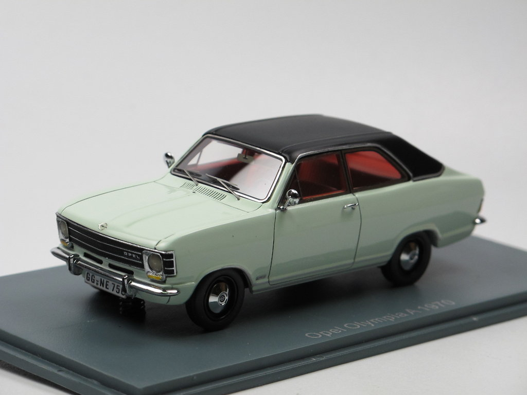 neo scale models 1970 opel olympia a wei schwarz 1 43 g nstig. Black Bedroom Furniture Sets. Home Design Ideas