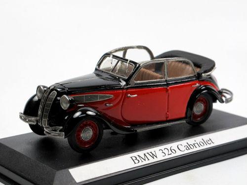 1936 BMW 326 Cabriolet 4-türig rot/schwarz 1/43 Resine Pivtorak