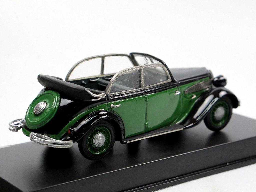 1936 BMW 326 Cabriolet 4-türig grün/schwarz 1/43 Resine Pivtorak