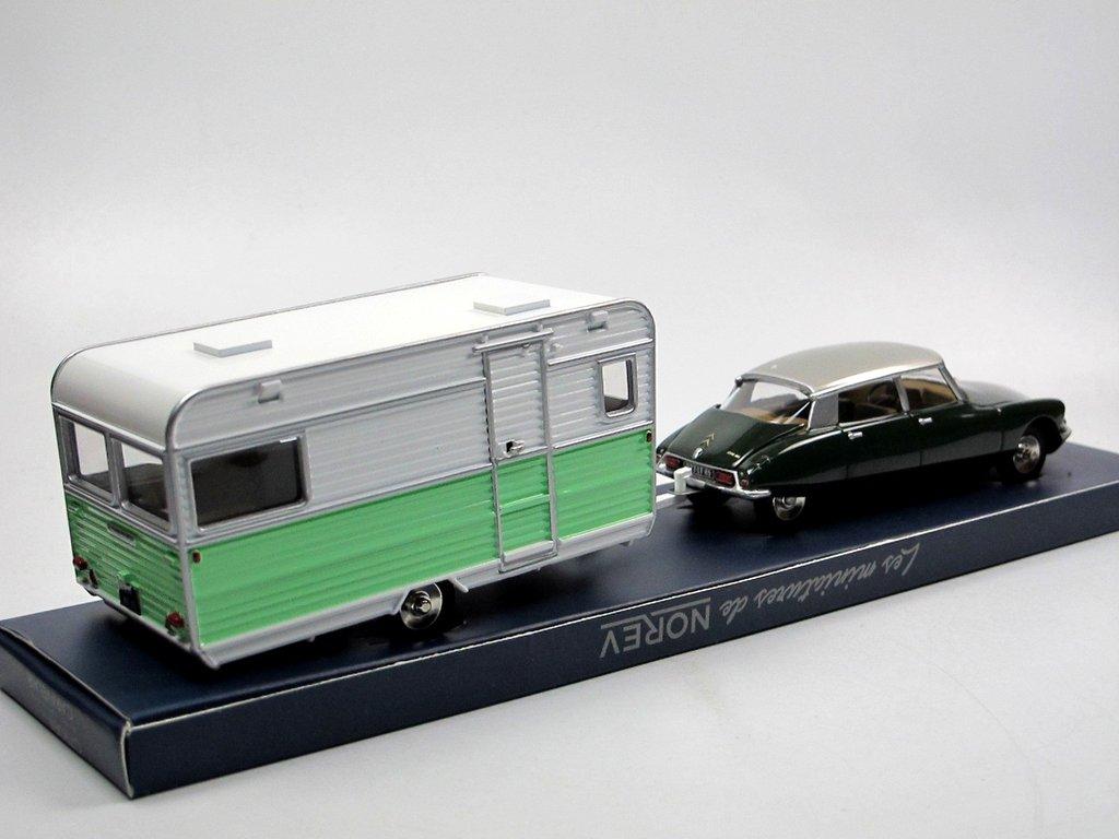 norev classic citroen ds 21 caravane wohnwagen gr n 1 43 neu. Black Bedroom Furniture Sets. Home Design Ideas
