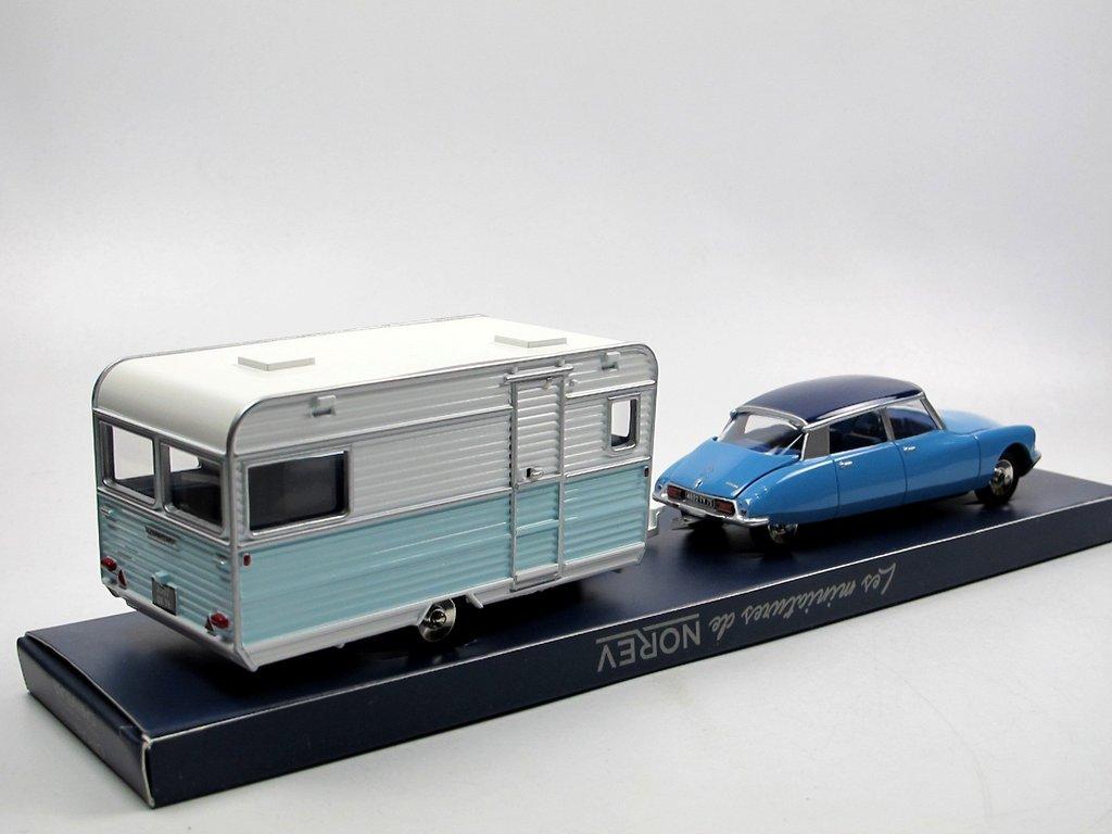 norev classic citroen ds 21 caravane wohnwagen blau 1 43 neu. Black Bedroom Furniture Sets. Home Design Ideas