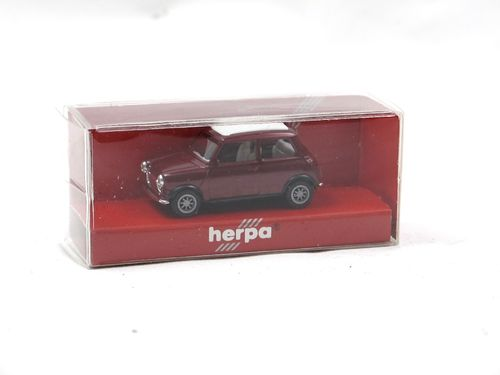 Herpa 1990 Mini Cooper closed sunroof red metallic 1/87