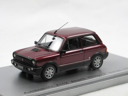 Kess 1984 Autobianchi A112 Abarth 7-Series red metallic 1/43