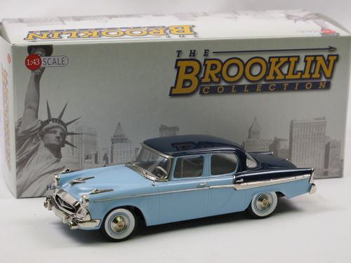 Brooklin Models 1955 Studebaker Champion 4-Door Sedan blue 1/43