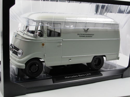 Norev 1957 Mercedes-Benz L319 Kasten DEUTSCHE POST grau 1/18
