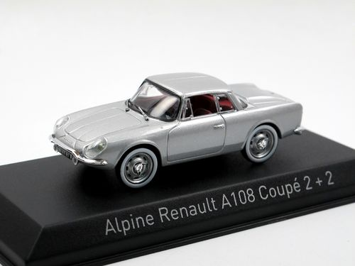 Norev 1961 Alpine Renault A108 Coupe 2 + 2 silber 1/43