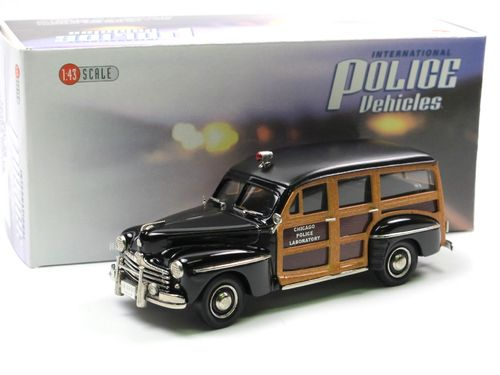 Brooklin 1948 Ford V8 Station Wagon CHICAGO POLICE 1/43