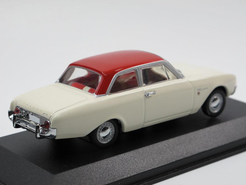 Minichamps 1960 Ford Taunus 17m P3 Badewanne Weiss Rot 1 43 Selten