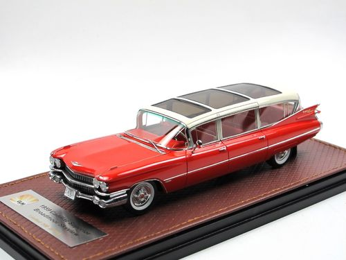 GLM 1959 Cadillac Superior Broadmoor Skyview red/white 1/43