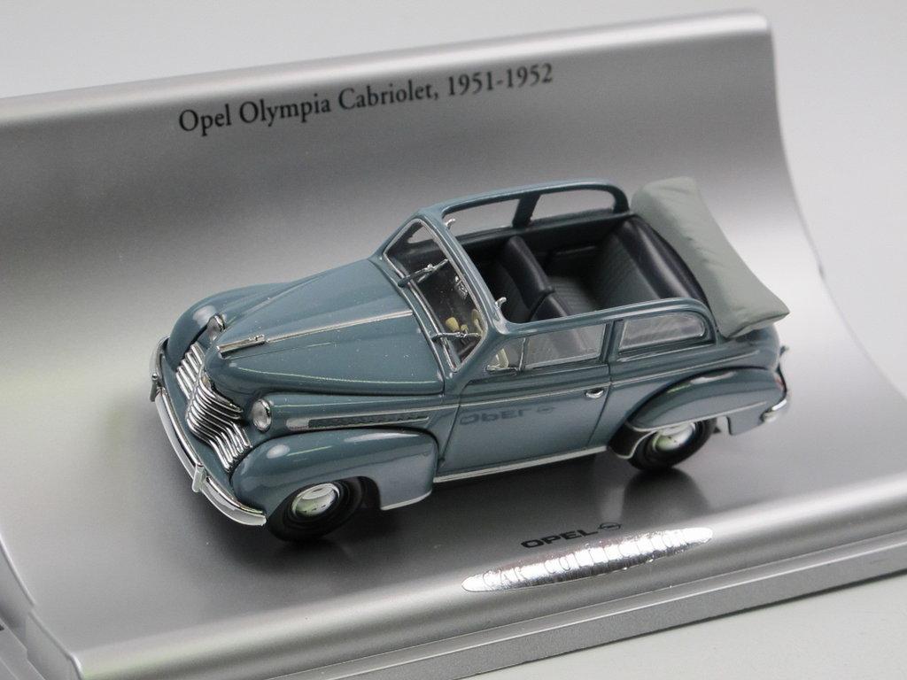 minichamps 1951 opel olympia cabriolimousine 1 43 werbemodell. Black Bedroom Furniture Sets. Home Design Ideas