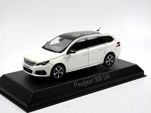 Norev 2017 Peugeot 308 SW GT Line Pearl White 1/43