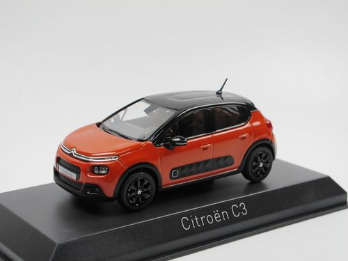 Norev 2016 Citroen C3 orange/schwarz mit Airbumps 1/43