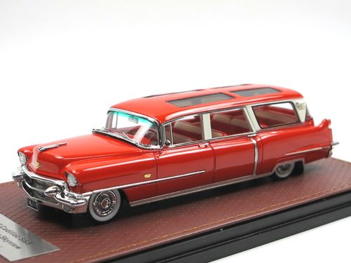GLM 1956 Cadillac S&S Broadmoor Skyview Station red 1/43