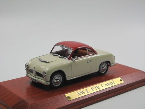 Atlas Verlag 1955 AWZ P70 Coupe DDR creme/rot 1/43