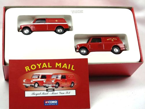 Corgi ROYAL MAIL - Mini Van Set 1/43