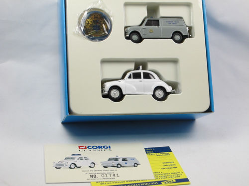 Corgi Stockport Borough Police Set - Morris Minor + Mini 1/43