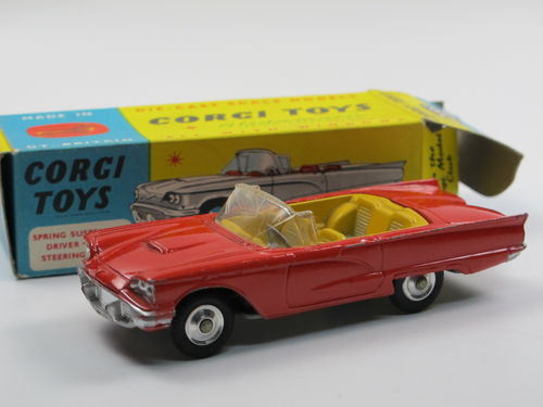 Corgi Toys 215S Ford Thunderbird open Sports red in Box