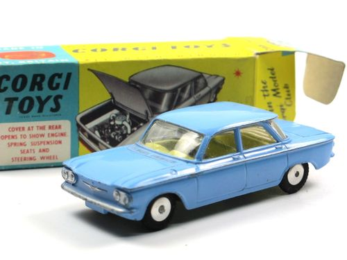 Corgi Toys 229 Chevrolet Corvair hellblau near mint/boxed