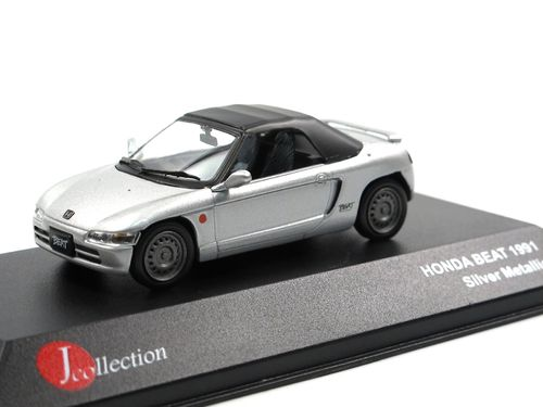 J-Collection 1991 Honda Beat Roadster Softtop silber 1/43