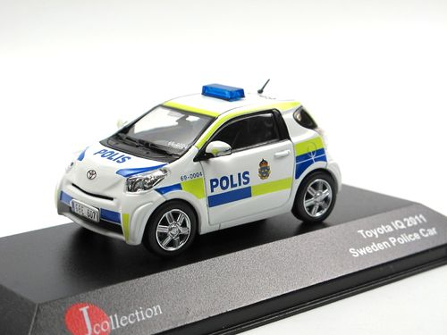 J-Collection Toyota iQ POLIS Polizei Schweden 2011 1/43
