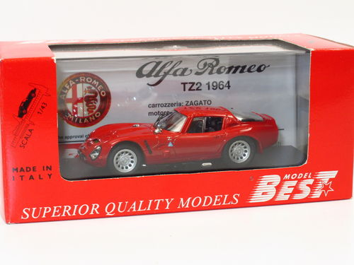 Best Model Alfa Romeo TZ2 Prova (1964) rot 1/43