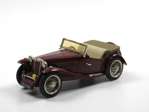 Mini Marque 43- 1946 MG TC Midget dark red 1/43 White metal